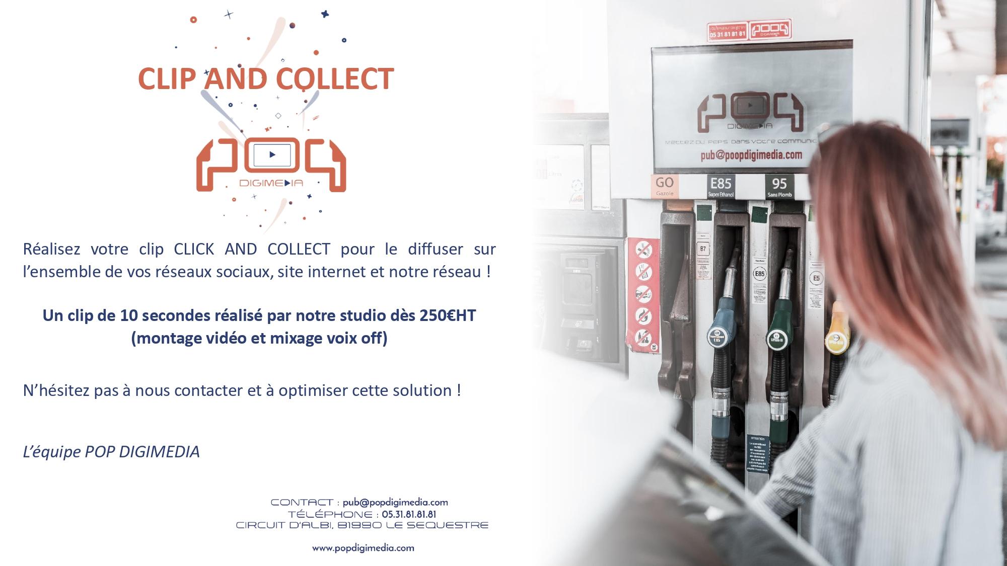 Offre Clip and Collect pour vos Click and collect un concept de communication digitale