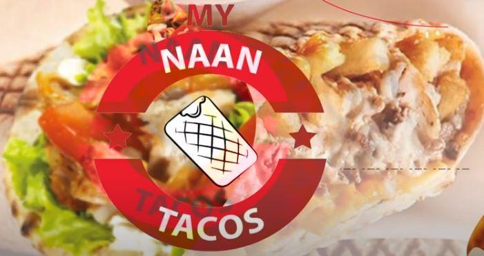 Publicité digitale sur écrans My Naan Tacos confinement ivraison