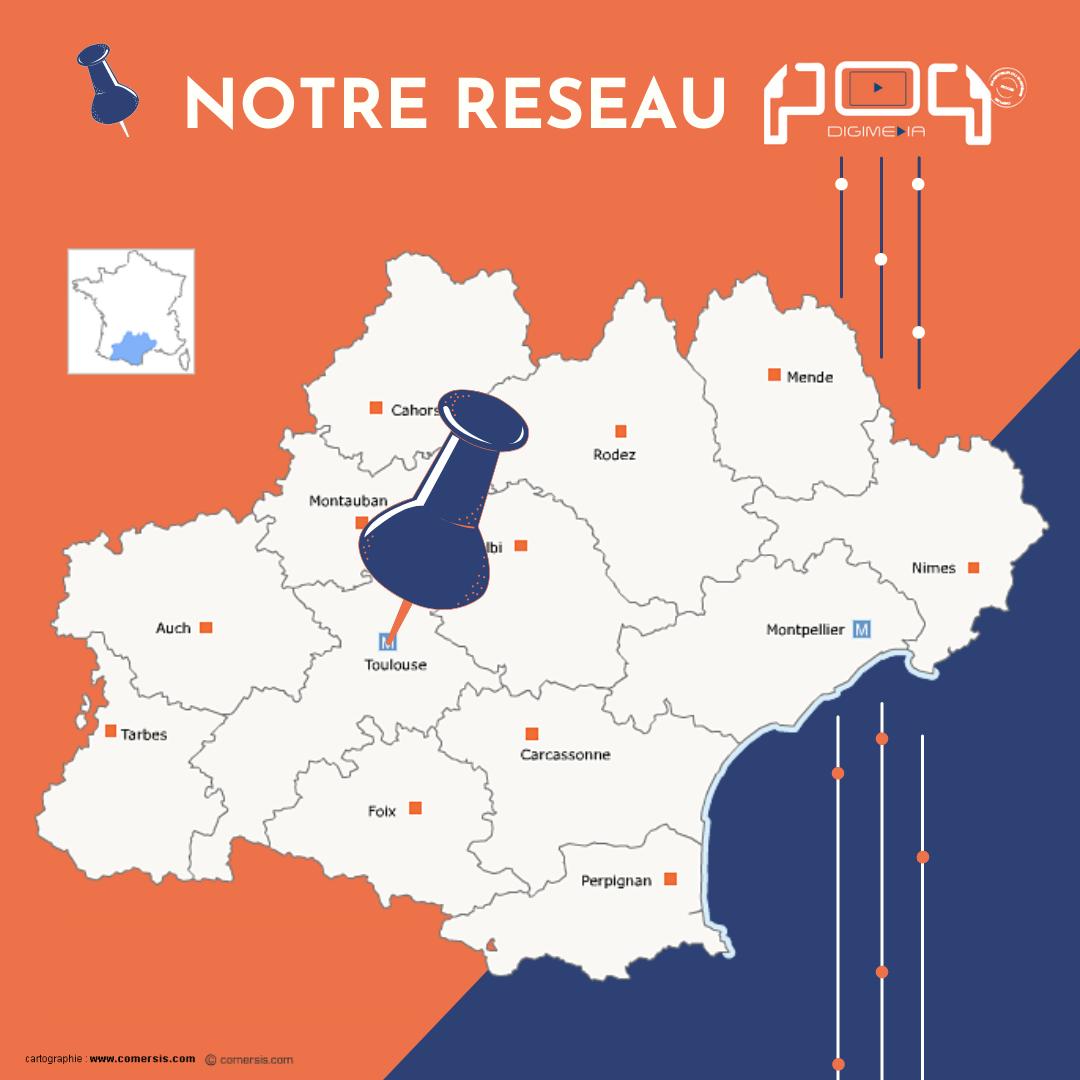 Réseau écrans digitaux PoP stations-service Haute-Garonne